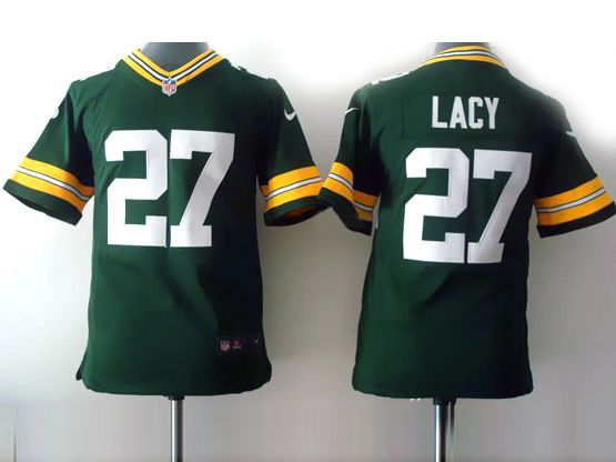 Youth Nfl Green Bay Packers #27 Lacy Green Game Jersey