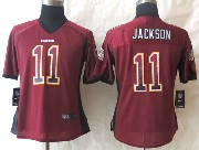 Women  Nfl Washington Redskins #11 Jackson Drift Fashion Red Elite Jersey