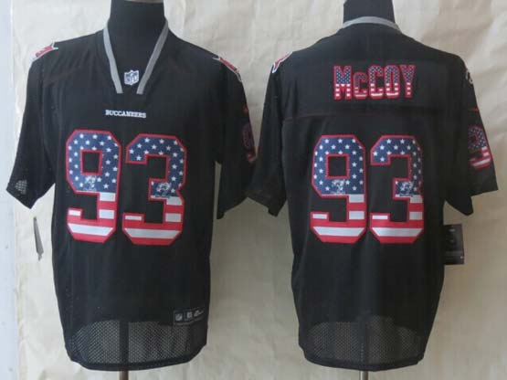 Mens Nfl Tampa Bay Buccaneers #93 Mccoy Black (2014 Usa Flag Fashion) Elite Jersey