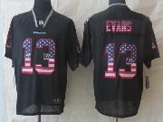 Mens Nfl Tampa Bay Buccaneers #13 Evans Black (2014 Usa Flag Fashion) Elite Jersey