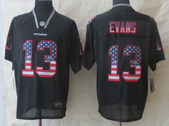Mens Nfl Tampa Bay Buccaneers #13 Evans Black (2014 Usa Flag Fashion) Elite Jersey