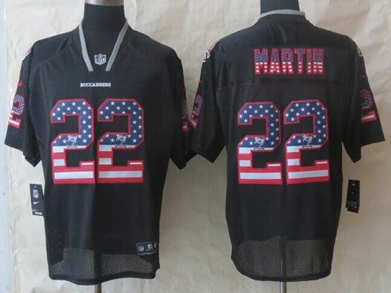 Mens Nfl Tampa Bay Buccaneers #22 Martin Black (2014 Usa Flag Fashion) Elite Jersey