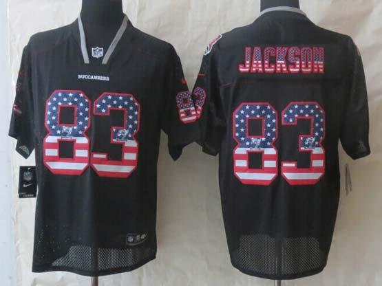 Mens Nfl Tampa Bay Buccaneers #83 Jackson Black (2014 Usa Flag Fashion) Elite Jersey