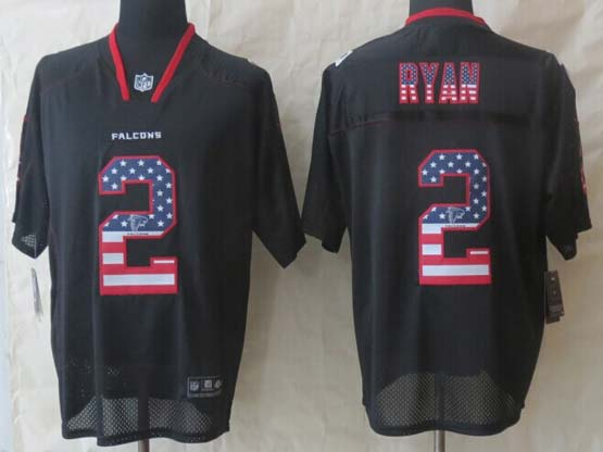 Mens Nfl Atlanta Falcons #2 Ryan Black (2014 Usa Flag Fashion) Elite Jersey
