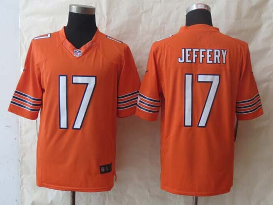 mens nfl Chicago Bears #17 Alshon Jeffery orange limited jersey