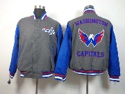 Mens Nhl Washington Capitals Men Embroidered Cotton Button Jacket