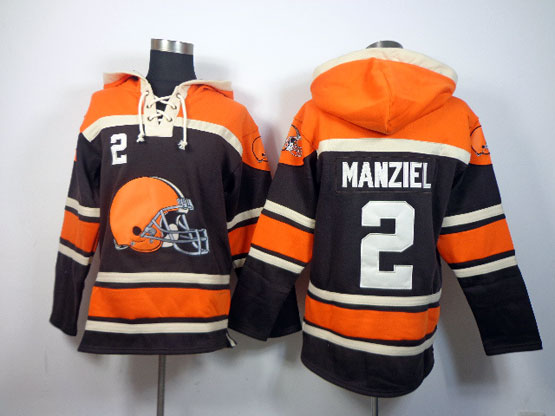 Mens Nfl Nfl Cleveland Browns #2 Manziel Brown (team Hoodie) Jersey