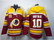 Mens Nfl Washington Redskins #10 Griffin Iii Red (team Hoodie) Jersey