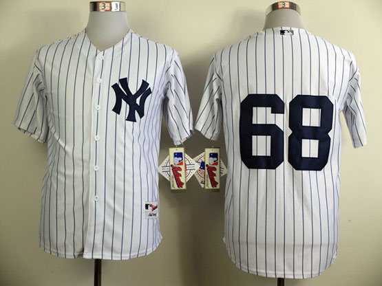 mens mlb new york yankees #68 betances white Jersey(no name)