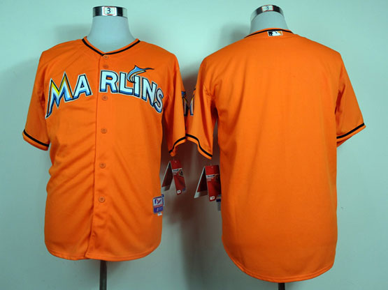 Mens Mlb Miami Marlins Blank Orange Jersey