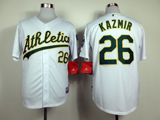 Mens Mlb Oakland Athletics #26 Kazmir White Jersey