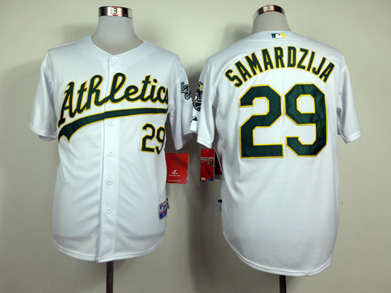 Mens Mlb Oakland Athletics #29 Samardzija White Jersey