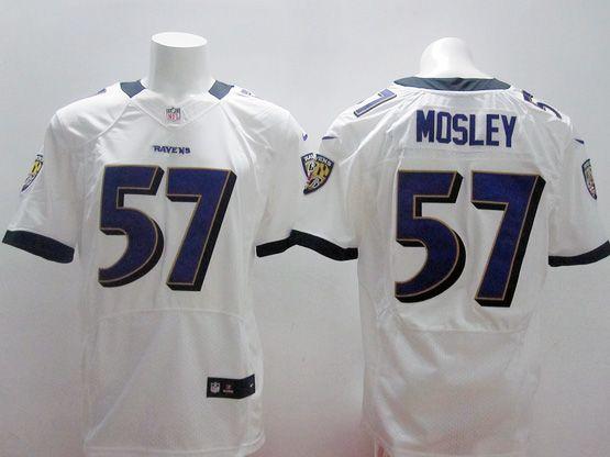 Mens Nfl Baltimore Ravens #57 C. J Mosley White Elite Jersey