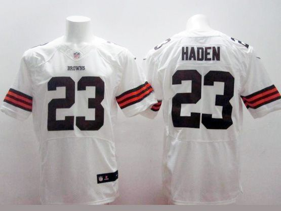 Mens Nfl Cleveland Browns #23 Haden White Elite Jersey
