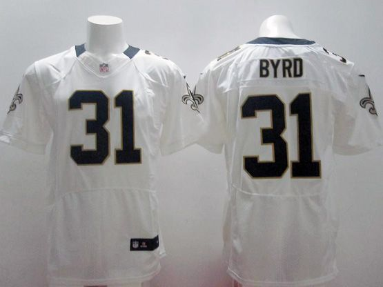 Mens Nfl Orleans Saints #31 Byrd White Elite Jersey