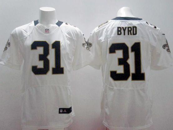 Mens Nfl Orleans Saints #31 Byrd White Elite Jersey