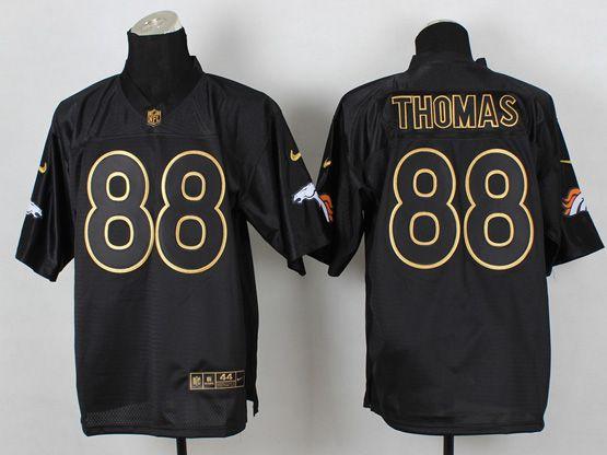 Mens Nfl Denver Broncos #88 Thomas Black 2014 Pro Gold Lettering Fashion Elite Jersey