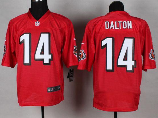 Mens Nfl Cincinnati Bengals #14 Dalton 2014 Qb Red Jersey