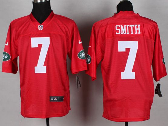 Mens Nfl New York Jets #7 Smith 2014 Qb Red Jersey