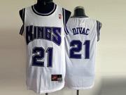 Mens Nba Sacramento Kings #21 Divac White (blue Number) Jersey (m)