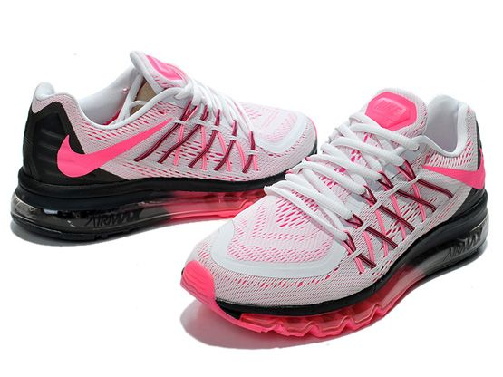 Women Air Max 2015 Running Shoes Color White&pink&black