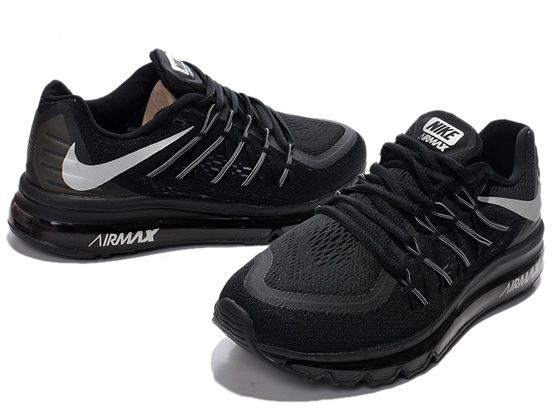 Women Air Max 2015 Running Shoes Color Black&gray Sp