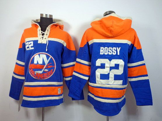 Mens nhl new york islanders #22 bossy blue hoodie Jersey