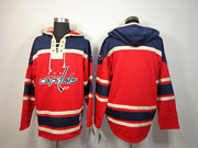 Mens nhl washington capitals blacnk red hoodie Jersey