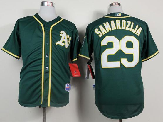 Mens mlb oakland athletics #29 samardzija green Jersey