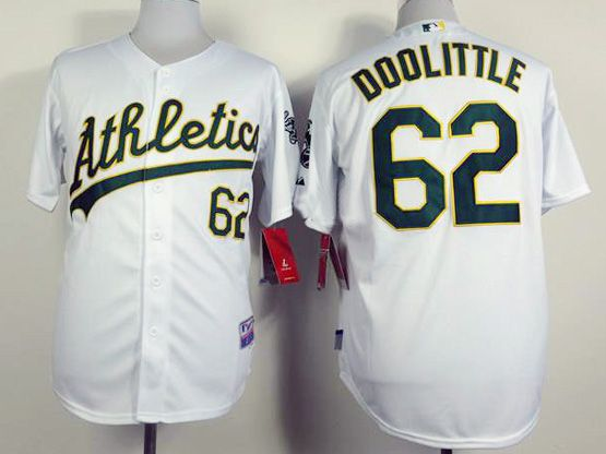 Mens mlb chicago oakland athletics #62 doolittle white Jersey
