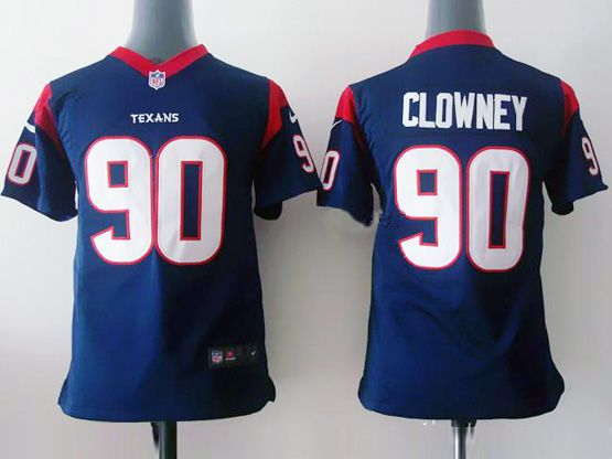 Youth Nfl Houston Texans #90 Clowney Blue Game Jersey