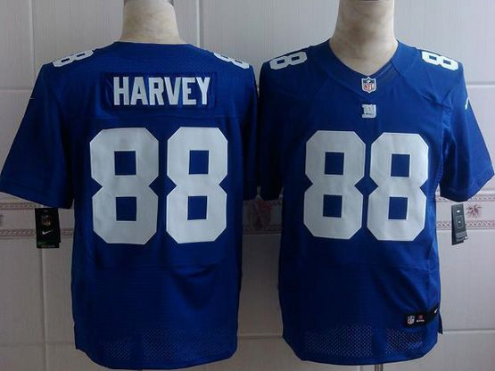 Mens Nfl New York Giants #88 Harvey Blue Elite Jersey