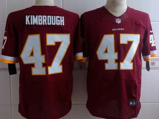 Mens Nfl Washington Redskins #47 Kimbrough Red (white Number) Elite Jersey