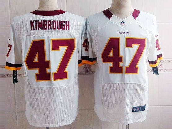 Mens Nfl Washington Redskins #47 Kimbrough White (red Number) Elite Jersey