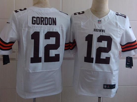 Mens Nfl Cleveland Browns #12 Gordon White Elite Jersey