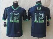 Youth Nfl Seattle Seahawks #12 Fan Blue 2014 New Drift Fashion Elite Jersey