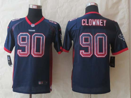 Youth Nfl Houston Texans #90 Clowney Blue 2014 New Drift Fashion Elite Jersey