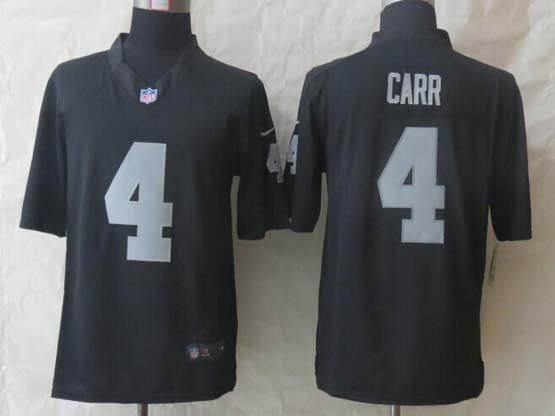 Mens Nfl Oakland Raiders #4 Carr Black Limited Jersey