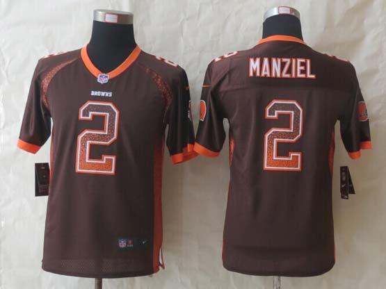 Youth Nfl Cleveland Browns 2 Manziel Brown 2014 New Drift Fashion Elite Jersey