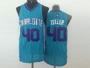 Mens Nba Charlotte Hornets #40 Zeller Light Blue Jersey (m)