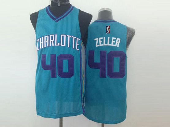 Mens Nba Charlotte Hornets #40 Zeller Light Blue Jersey (m)