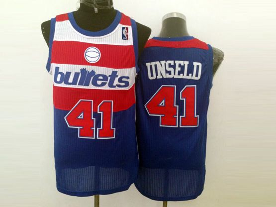Mens Nba Washington Bullets #41 Unseld Blue Revolution 30 Jersey (m)