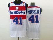 Mens Nba Washington Bullets #41 Unseld White Revolution 30 Jersey (m)