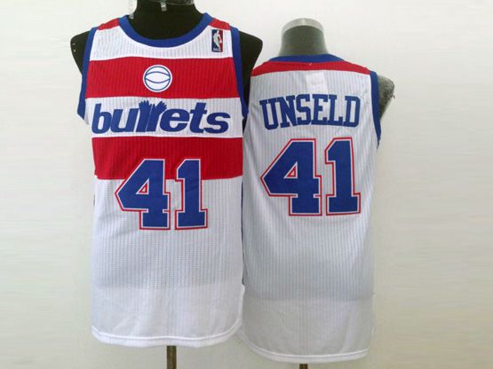 Mens Nba Washington Bullets #41 Unseld White Revolution 30 Jersey (m)