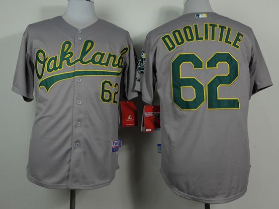 Mens Mlb Chicago Oakland Athletics #62 Doolittle Gray Jersey