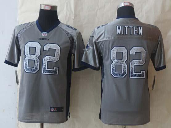youth nfl Dallas Cowboys #82 Jason Witten gray 2014 new drift fashion elite jersey