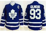 youth nhl toronto maple leafs #93 gilmour blue c patch throwbacks Jersey