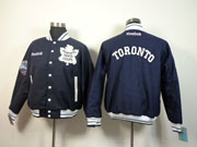Mens Nhl Toronto Maple Leafs Blue Men Embroidered Cotton Button Jacket