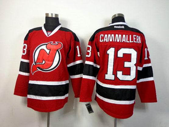 Mens reebok nhl new jersey devils #13 cammallera red Jersey