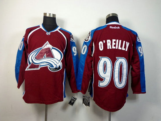 Mens reebok nhl colorado avalanche #90 oreilly red Jersey